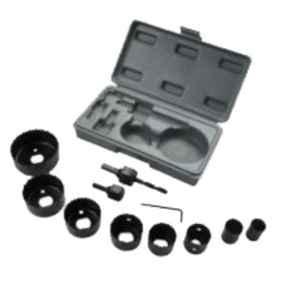 GSK Cut 11 Pcs 19-64mm Wood Hole Saw Cutting Kit