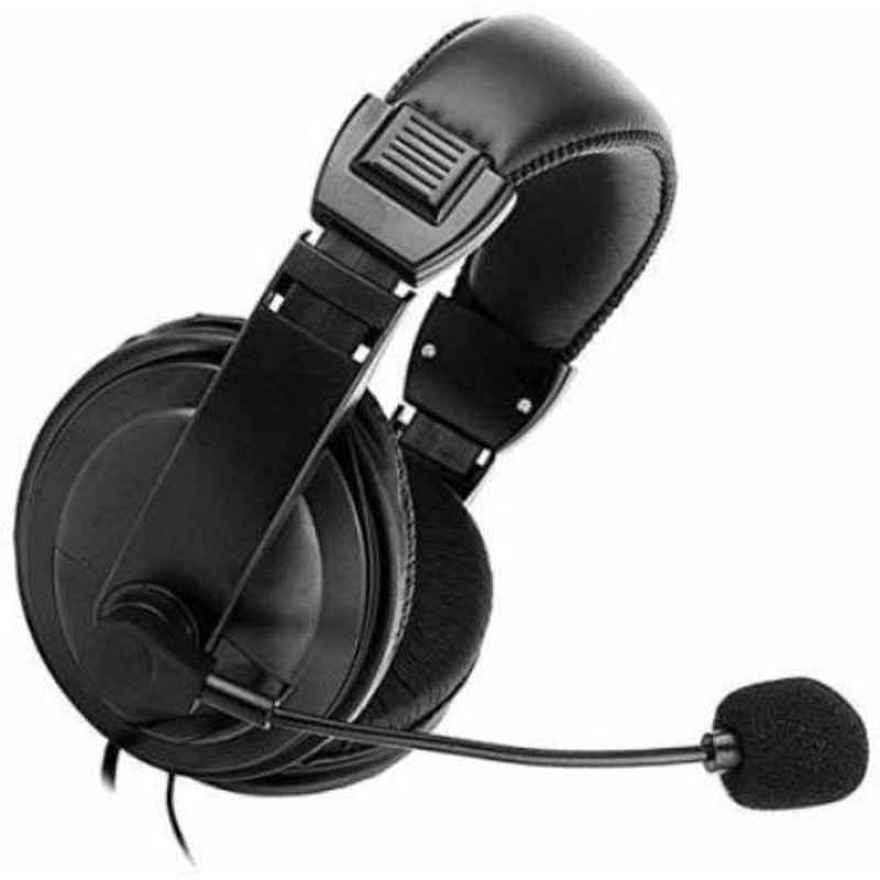 Lapcare HC-750 Black On the Ear Wired Headphone with Mic, LWS-040