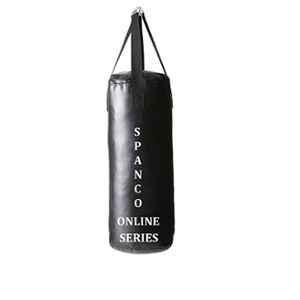 Spanco Black Black and Blue Color, UnFilled (Empty), Punching Bag/Boxing Bag/MMA Bag/Kickboxing Bag/Muay Thai Bag/Takewondo Bag/Judo Bag/Marshal Arts Bag/Karate Bag/Wosho Bag/Gym Bag/Sand Bag/Fitness Bag/Professional Training Bag & Hanging Straps