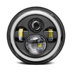 AllExtreme EX989H1 7 inch 75W Hi-Low Beam & Angel Eye Full Ring Round LED Headlight