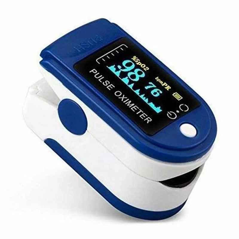 MCP Blue Fingertip Pulse Oximeter with OLED Display