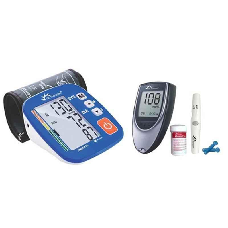 Dr. Morepen BP-02-XL Blood Pressure Monitor & BG-03 Gluco One Monitor Kit with 50 Test Strips Combo