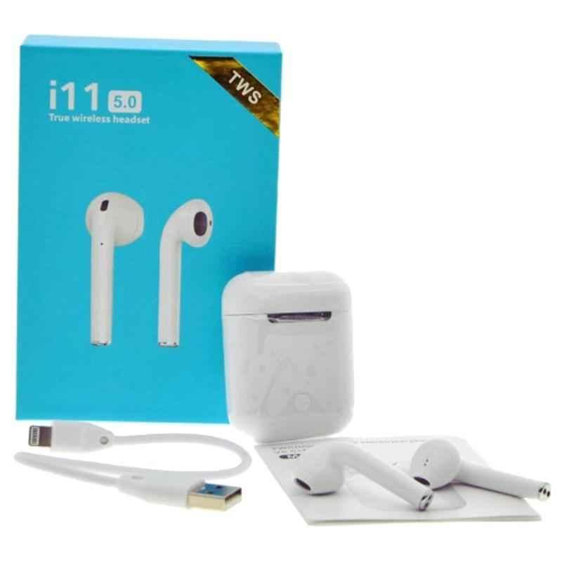 Immutable i11 Mini White Bluetooth Earbuds with Mic, IMT-54128