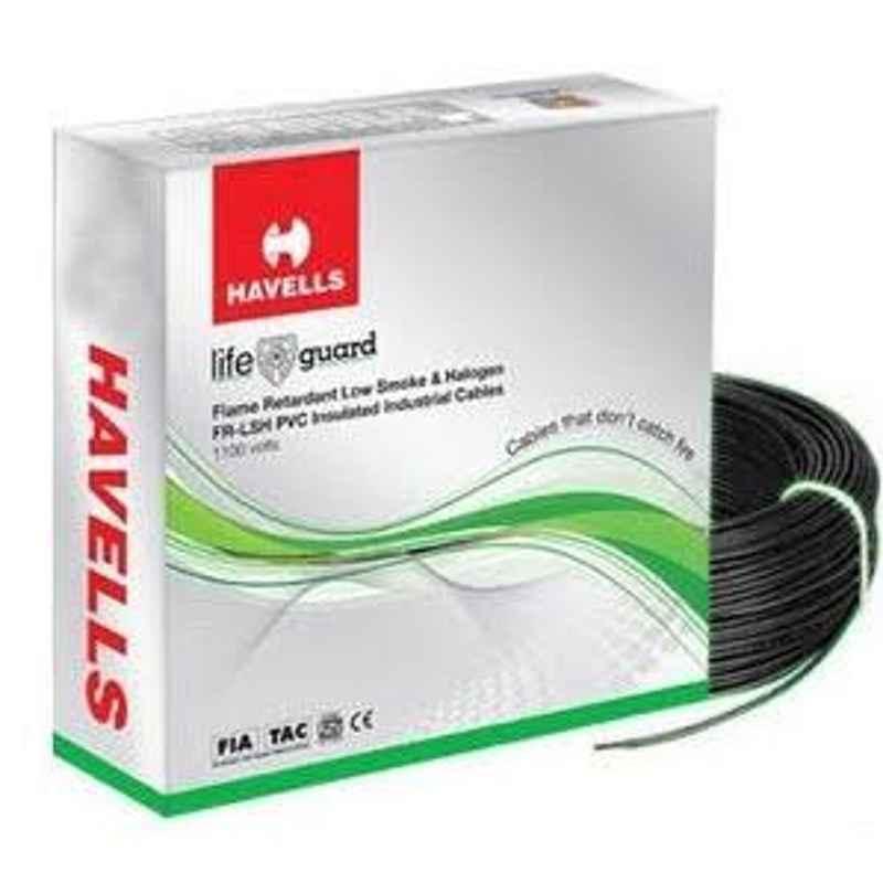 Havells Flame Retardant Low Smoke Halogen Cable Black 180 m 2.50 Sq.mm