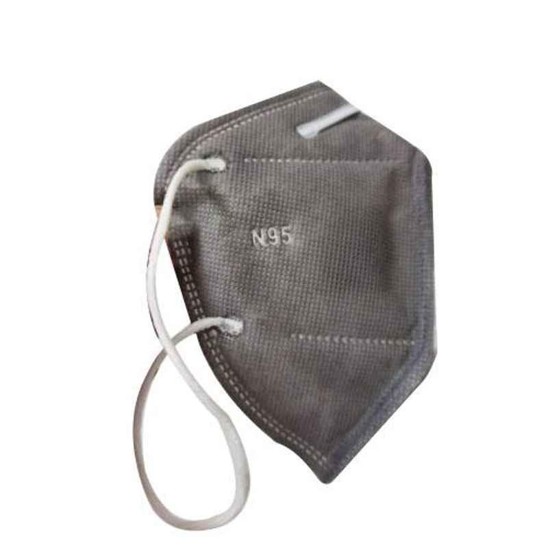 Bluekites N95 Grey Ayurvedic Mask (Pack of 4)