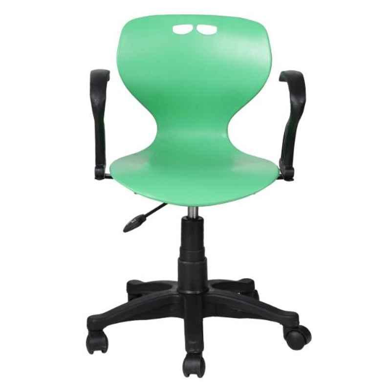 Regent Net & Metal Black & Green Chair with Peacock Handle, RSC-511