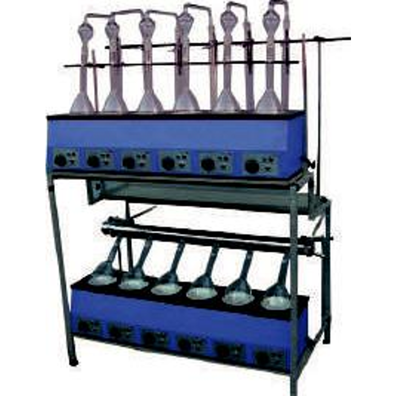 Labpro 143 6 Tests Heater Type Kjeldhal Digestion & Distillation Units Combined