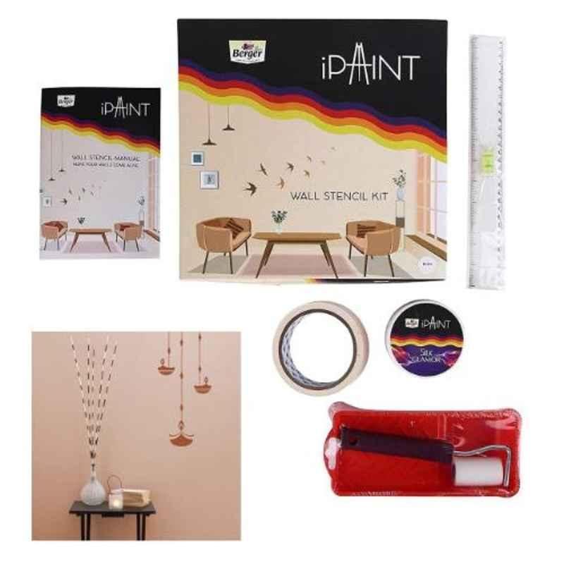 Berger Plastic Multi DIY Wall Diya Stencil Painting DOU Booklet Kit, F0001L0991001000