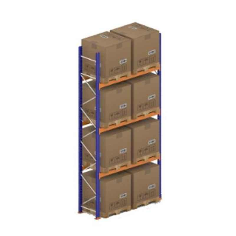 Godrej Ground Plus 3 Layers Steel Selective Pallet Racking, Max Load Capacity: 6000kg, Main Unit: 5000x2300x800mm (HxWxD)