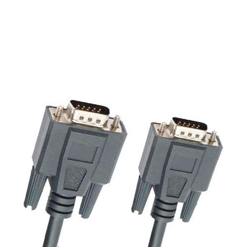 Logic GrandLogic Professional 5m PVC & Copper Grey Male to Male VGA AV Cable, GL-PR-V5MM