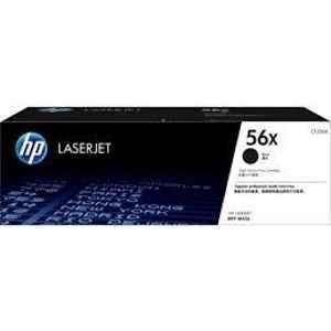 HP 56X High Yield Black Laser Jet Toner Cartridge, CF256X