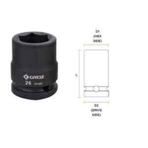 Groz 28mm 3/4 inch Drive Hex Impact Socket, ISKT/H/3-4/28