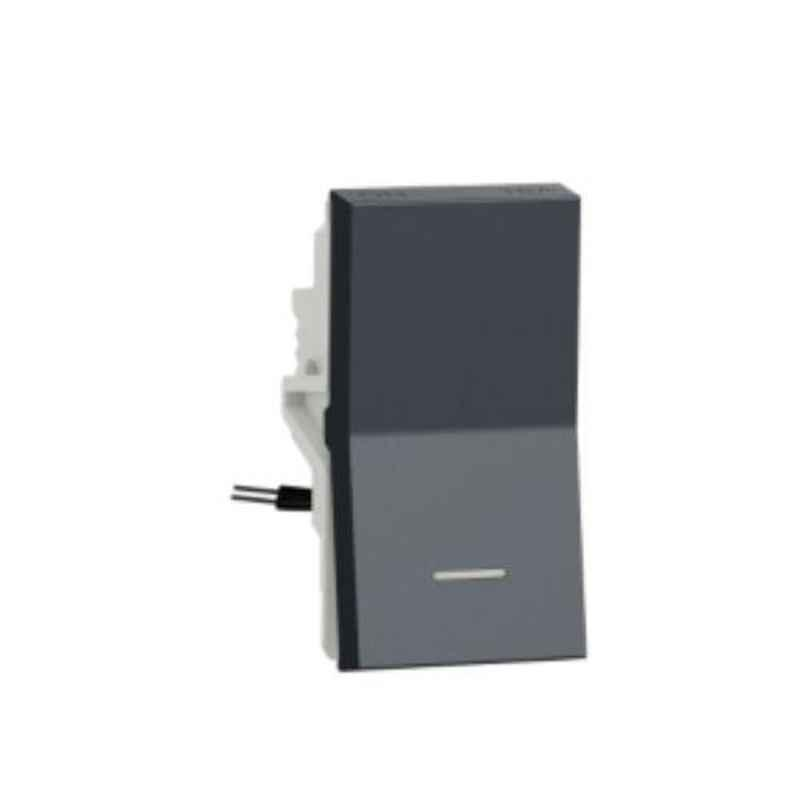 Schneider Unica Pure 16A 1 Module Volcanic Grey Switch with Indicator, UNS161SWL1M_GY (Pack of 20)