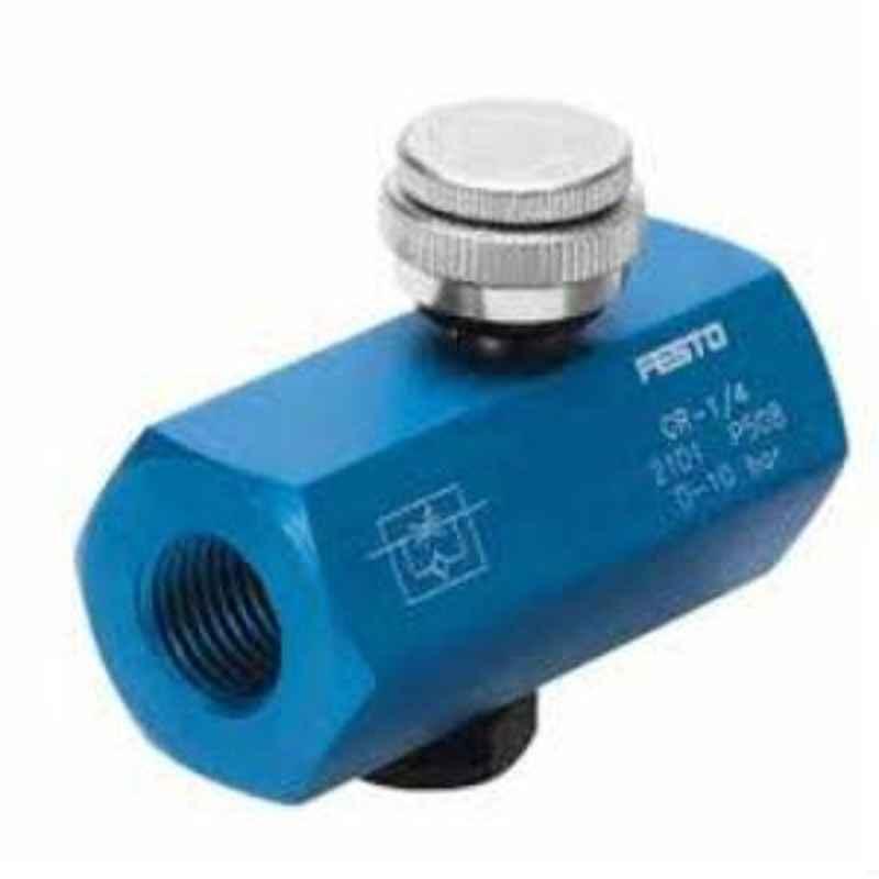 Festo  (Flow rate 220 l/min) One-way flow control valve GR-1/8-B