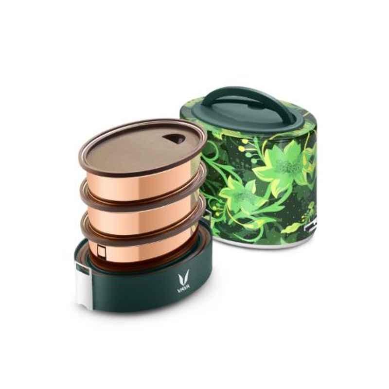Vaya Tyffyn Floral 1000ml Stainless Steel Lunch Box