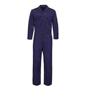 Saraf Polyester & Cotton Navy Blue Boiler Suit