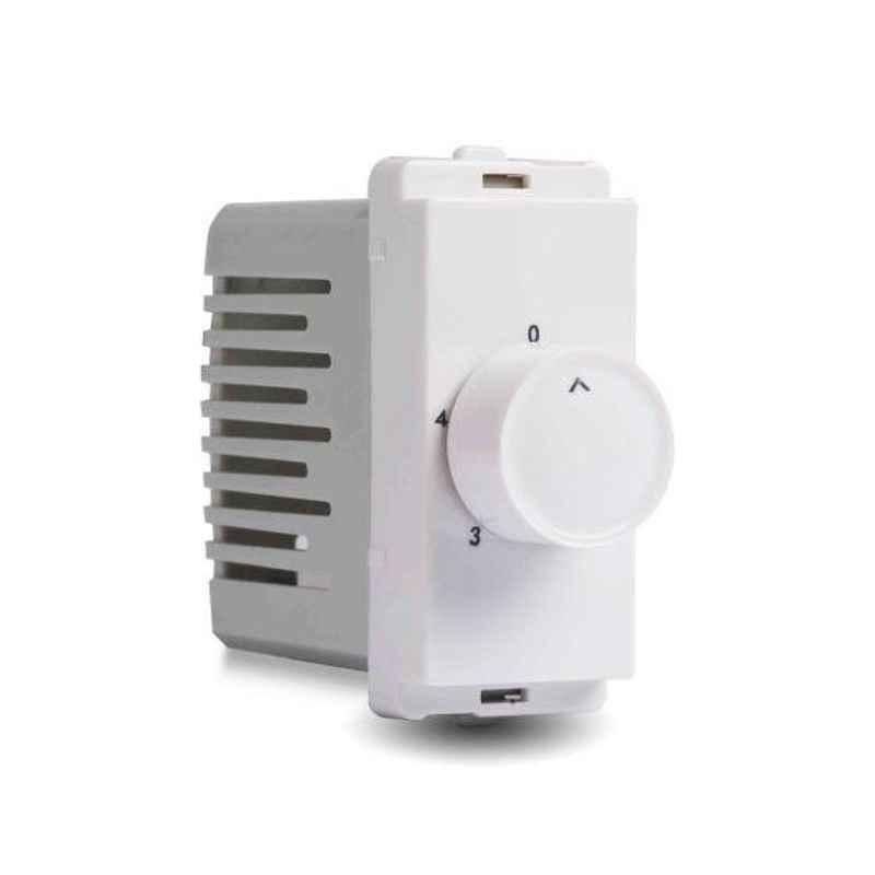 Schneider Livia 1 Module White Step Type Fan Regulator, P3100 (Pack of 10)