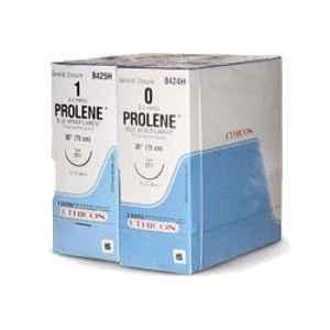 Ethicon W8703 Prolene 12 Blue Monofilament Suture, Size: 60cm (Pack of 12)