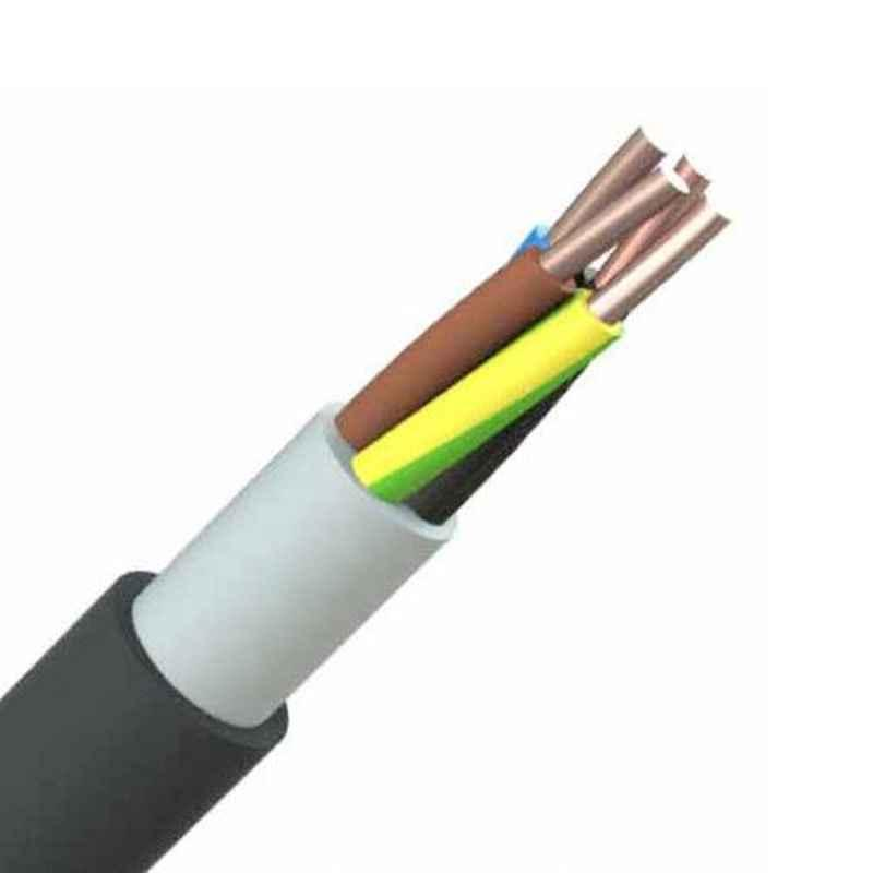 Polycab 10 Sqmm 4 Core Industrial Braided Unarmoured Screened Cables, Length: 100 m