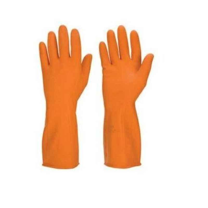 Chemisafe Orange Rubber Hand Gloves (Pack of 5)