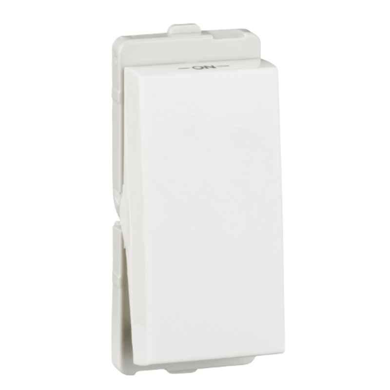 Schneider Livia 16A 1 Module Flush Mounted White Switch, P1101 (Pack of 10)