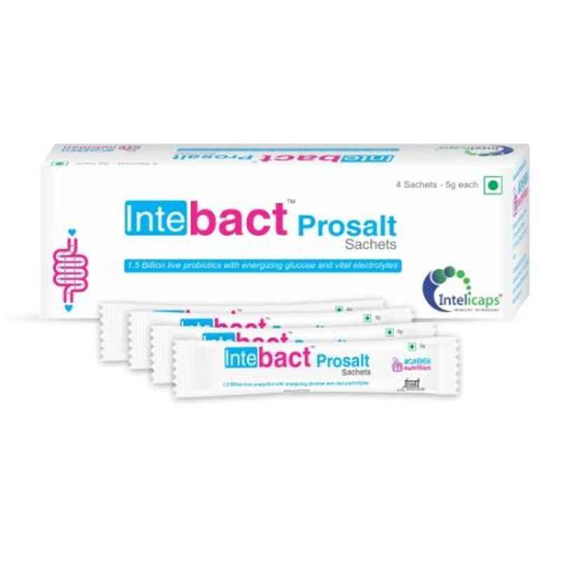 Dr. Morepen 4 Sachets Intebact Prosalt Immunity with Live Probiotics for Gut