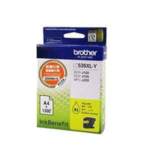Brother LC 535XLY Yellow Ink Cartridge