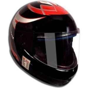 GTB Medium Size Black Full Face Motorcycle Helmet