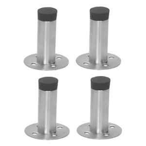Nixnine Stainless Steel Back Silencer Door Stopper with Rubber Pad, SS_REG_A-605_4PS (Pack of 4)