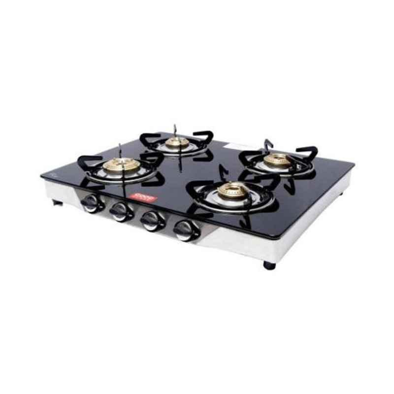 Good Flame Runner Deluxe 4 Burners Manual Ignition Glass Gas Stove, GF062