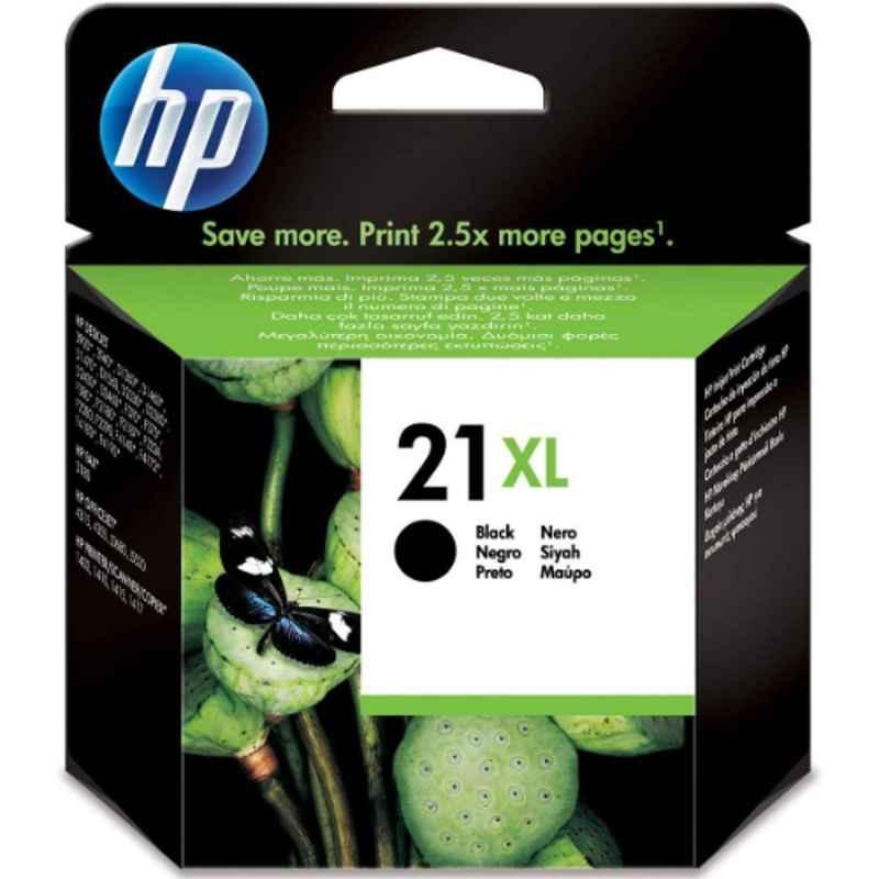 HP 21Xl Black High Yield Original Ink Cartridge, C9351CE