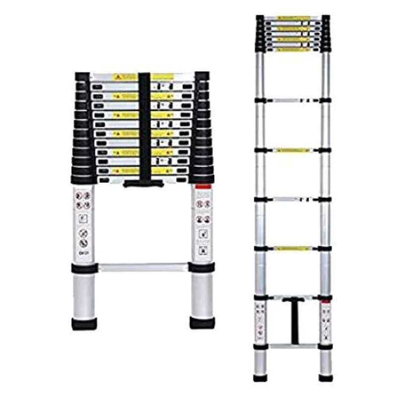 Champion 14.45ft 150kg Aluminium Silver & Black Ultra-Stable Folding Telescopic Ladder