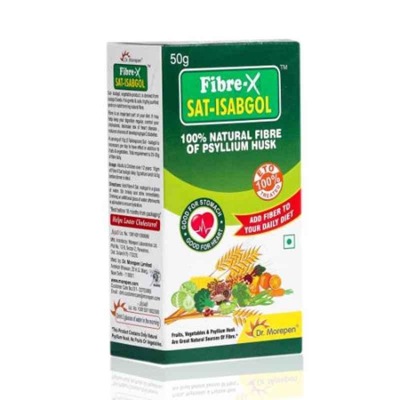 Dr. Morepen 50g Fiber-X Sat Isabgol, Psyllium Husk Powder
