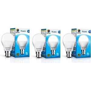 Wipro Tejas 7W Cool Day White Standard B22 LED Bulb, N75001 (Pack of 3)