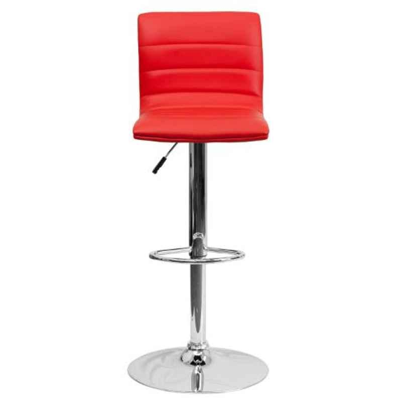 Steelcraft KBSTR12 Red Leatherette Upholstery Seat Bar Stool
