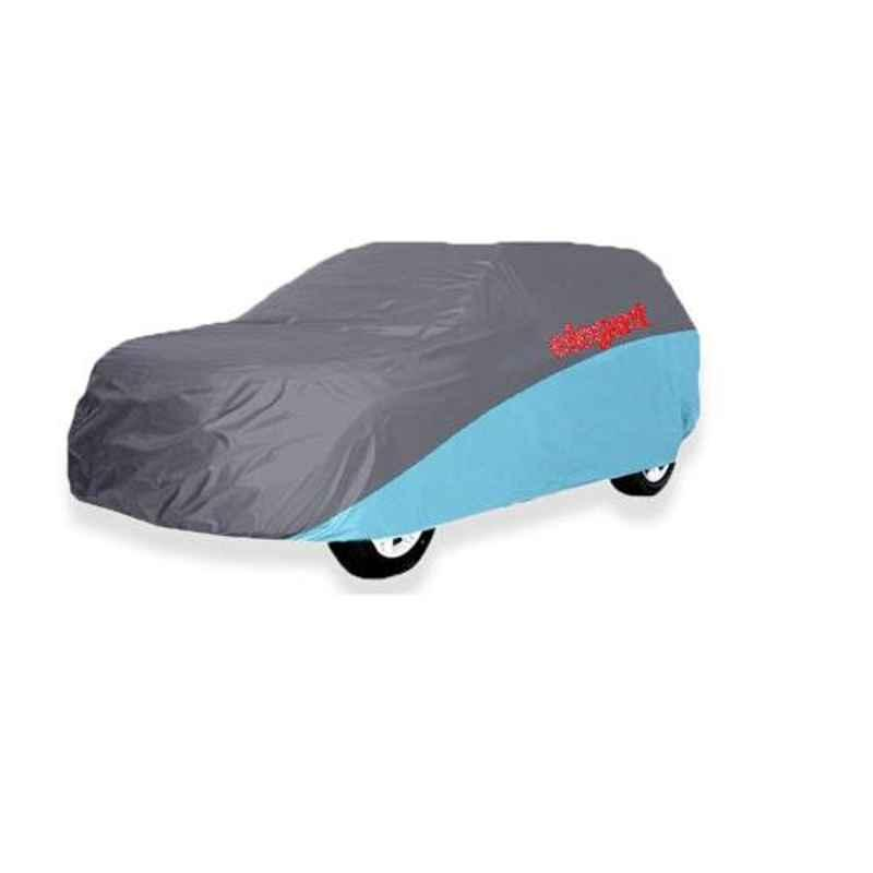 Elegant Grey & Blue Water Resistant Car Body Cover for Skoda Fabia