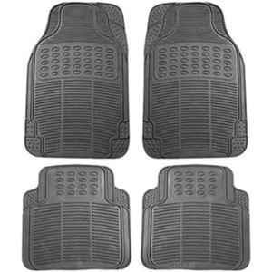 Love4ride 4 Pcs Black Rubber Car Floor Mat Set for Renault Kwid