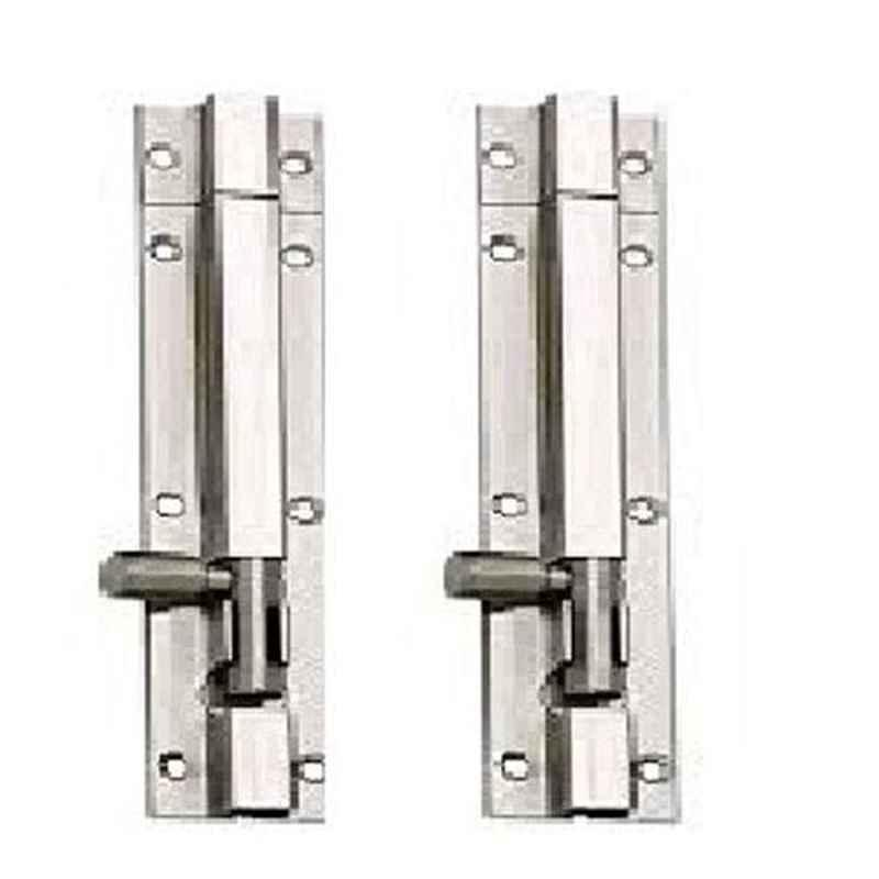 Nixnine 8 inch Stainless Steel Tower Bolt Security Door Latch Lock, SS_LTH_A-511_8IN_2PS (Pack of 2)