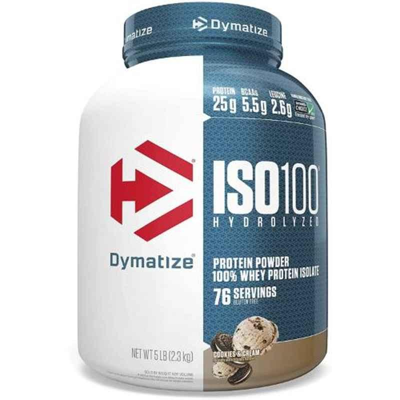 Dymatize ISO-100 5lbs Cookie and Cream Whey Protein