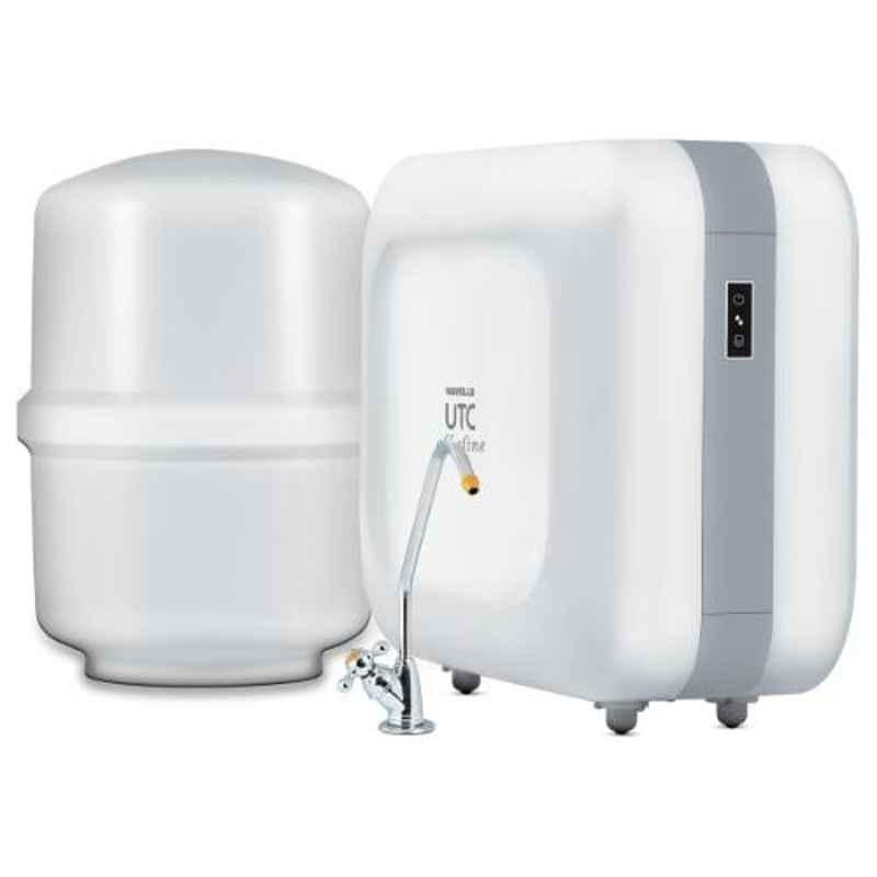 Havells UTC Alkaline 52W White RO & UV Water Purifier, GHWRUAW015