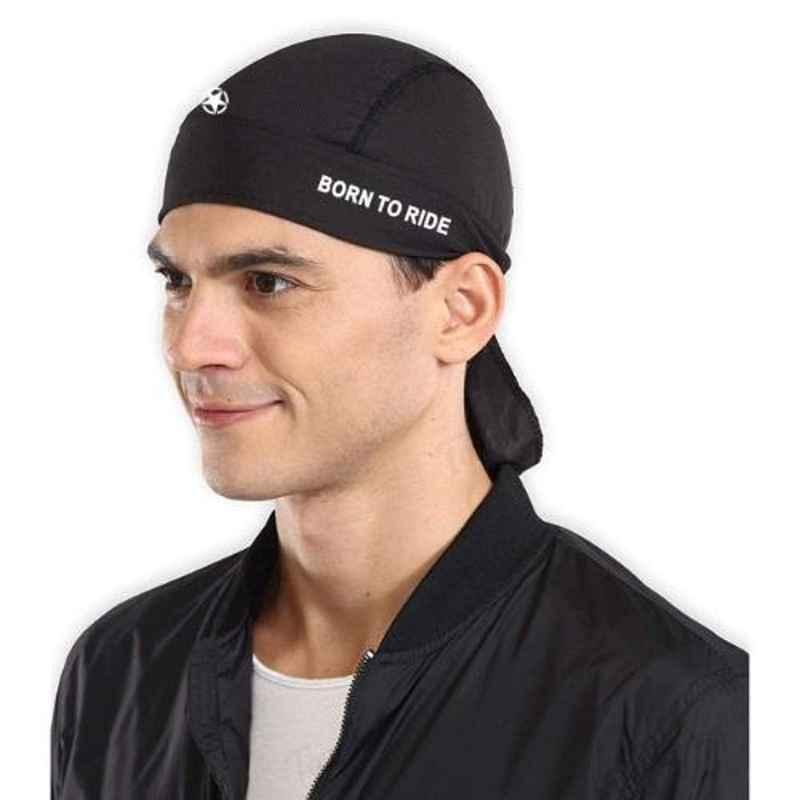 Just Rider Black Cycling Skull Cap Helmet Liner for Men
