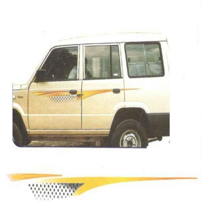 Galio Orange & Black Graphics Car Sticker Set for Tata Sumo Victa, GL-114O