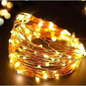 Tucasa 10m Yellow LED Copper Wire String Light with Adapter, DW-400