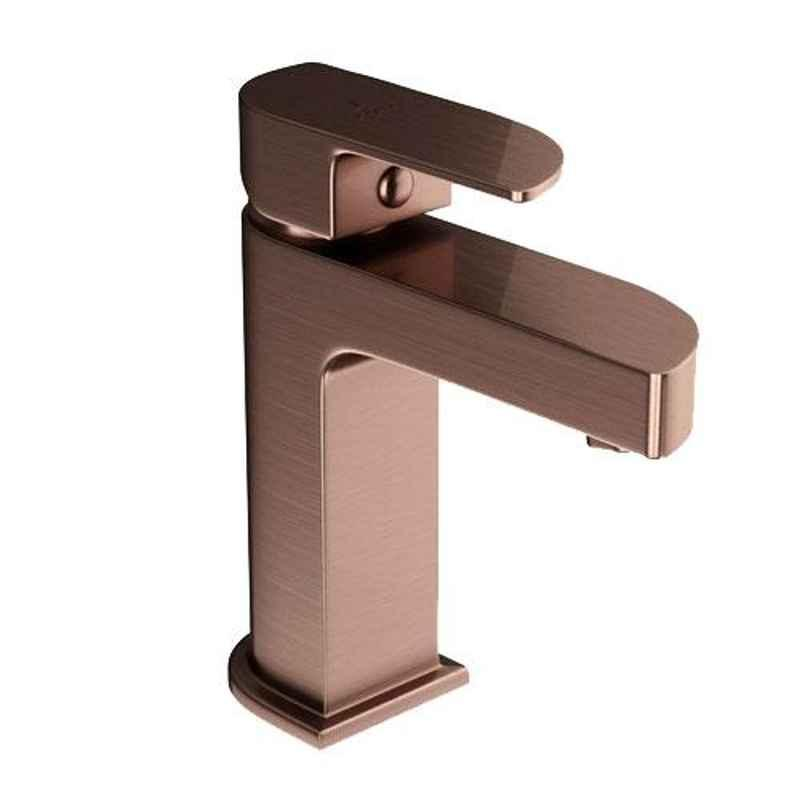 Jaquar Alive Antique Copper Single Lever Basin Mixer with 450mm Braided Hose, ALI-ACR-85011B
