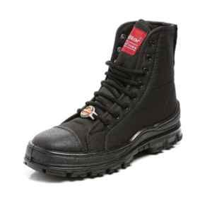 Unistar Leather PU Sole Black Safety Boots, 7100_Black, Size: 5