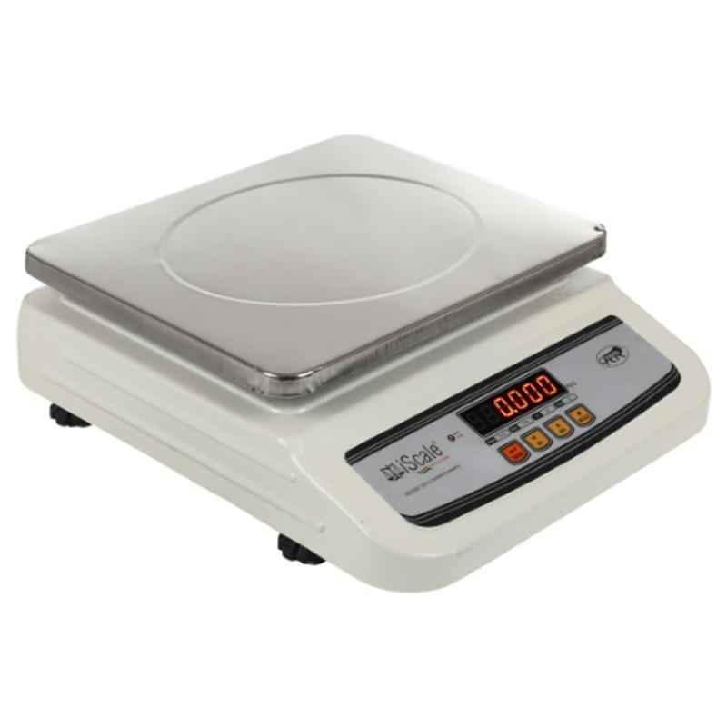 iScale i-02 10kg and 1g Accuracy Digital Table Top Weighing Scale with Front and Back Double Display and SS Pan