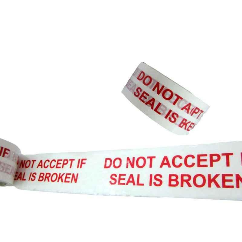 Primo 48mm 40 micron 65m Do Not Accept If Seal Is Broken Printed Tape (Pack of 12)