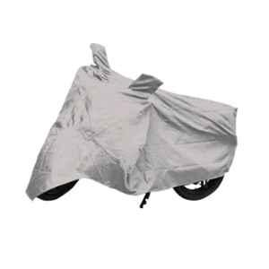 Love4Ride Silver Two Wheeler Cover for TVS Apache RTR 160