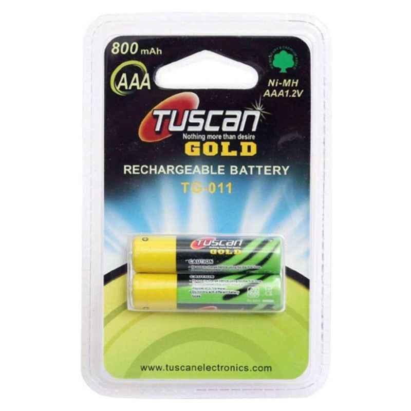 Tuscan 2 Pcs 1.2V AAA 800mAh Ni-MH Rechargeable Battery Set, TUSCANAAA800