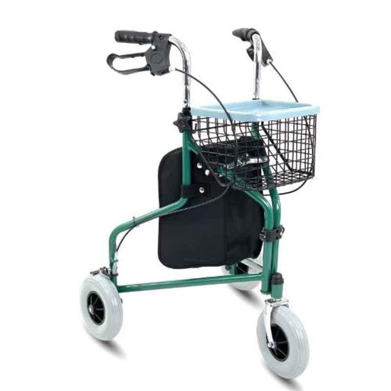KosmoCare 33 39 inch Green Folding Rollator with wheels, RX405